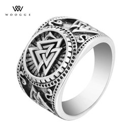 $enCountryForm.capitalKeyWord NZ - 2018 Fashion Jewelry New Vintage Sier Valknut Scandinavn Odin Symbol Norse Viking Ring Stainless Steel Biker Rings For Men