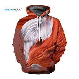 $enCountryForm.capitalKeyWord Canada - EHUANHOOD Wolf Hoodies Men Women Thin 3D Sweatshirts with Hat Wolf Print Hooded Hoodies 2018 Hip Hop Autumn Winter Hoody Tops