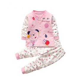 Cute Outfits For Spring Canada - Autumn Baby Girl Boys Clothes Sets Cute Spring Outfits Infant Cartoon Printing Sweatshirts+Casual Pants 2Pcs For Newborn Set