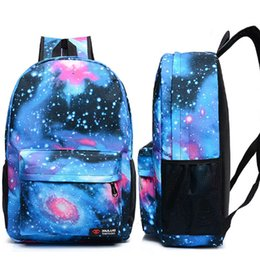 space backpacks 2019 - Fashion Backpack Galaxy Stars Universe Space Printing Backpacks For women men school backpack bag Outdoor Travel bag DHL