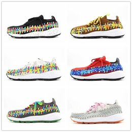 Discount top labs 2018 Hot Sale Lab Footscape Woven NM Black White Rainbow Casual Designer Mens Shoes for Top quality Fashion Sneakers Zap