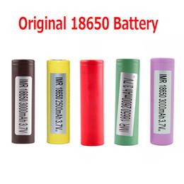Vente en gros Batterie d'origine 18650 LG HG2 Samsung INR18650 30Q 3000MAH HE2 HE4 INR 25R 2500mAh piles rechargeables utilisant une cellule 100% authentique