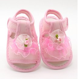 $enCountryForm.capitalKeyWord Australia - 2018New Pink White Red Baby Girl Lace Flowers Sandals Cotton Fabric Female Sandals Girl Summer ShoesFlowers G