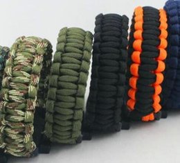 $enCountryForm.capitalKeyWord NZ - Outdoor Gear Hiking Camping Wristband Reflective Survival Bracelets Rope Paracord Rescue Bind Tent Tools Whistle