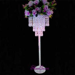$enCountryForm.capitalKeyWord NZ - D25XH70cm Crystal Pendant Chandelier 3-Tier sparkling acrylic beaded ring wedding centerpiece event party decoration,acrylic wedding centerp