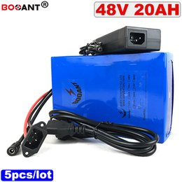 Motor Bicycles Australia - 5pcs lot 48V 20AH Lithium battery 13S 48V Electric bicycle battery for Bafang BBSHD 500W 1000W Motor +2A Charger Free Shipping