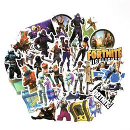 40 unids / set Juego Fortnite Graffiti Sticker Personalidad Equipaje DIY pegatinas de dibujos animados pegatinas de pared de PVC accesorios para el bolso regalo de los niños B