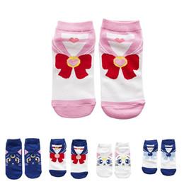 ee375234694 2018 New Fashion Girls Womens Cotton Socks Anime Sailor Moon Ankle Casual  Dress Socks