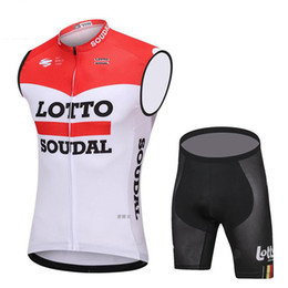 4696b7008 Tour de France 2018 Pro team Lotto sleeveless Cycling jersey bib shorts kit  Ropa Ciclismo bicycle clothing MTB bike cycling vest