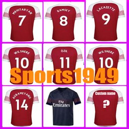 f111c468a2a Rugby 2018 2019 jerseys 11 OZIL MKHITARYAN RAMSEY LACAZETTE WILSHERE 18 19 Home  Away Jersey 10 or more free to send DHL