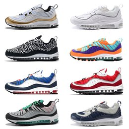 sneaker shoes uk 2018 - 98 98s Running Shoes QS Cone Gundam South Beach UK GMT Tour Yellow Triple Black White Gym Red Blue Designer Sport Sneake