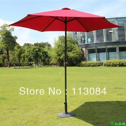 Free Shipping Latest 2015 2.7m Diameter Iron Hand Outdoor Garden Sun Beach  Sun Protection Coffee Leisure Umbrella