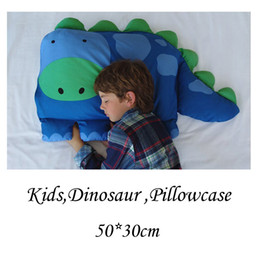 $enCountryForm.capitalKeyWord Canada - 2017 NEW Kids Animal Pillowcase Boys Dylan The Dinosaur Pet Pillow Sham For Children Decorative Pillow Drop Ship