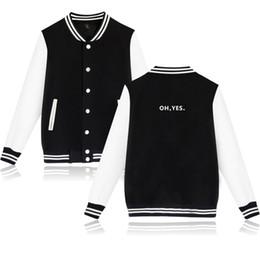 Exo jackEt online shopping - BTS Kpop Baseball Winter Hoodies Jacket Men Popular Bangtan Hip Hop Harajuku Hoodies Women Oh No Oh Yes Exo Baseball Jacket Coat