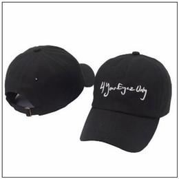 46bcedbfab485 Cartoons baseball Caps online shopping - 4 your Eyez only Embroidered  Baseball Cap Adjustable Strapback Hats