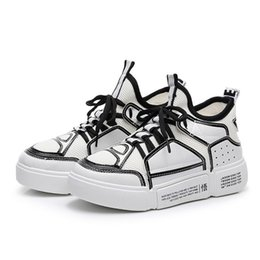 New Fashion Hip hop Shoes Women Special Cool Chunky Sneakers Ladies Women Casual  Shoes Plus Size 3 Colors Black White Shoes 69e86f24e74a