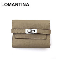 Discount small ladies wallets - LOMANTINA Genuine Leather Women Wallet And Purses Luxury Female Small Portomonee Brand Walet Lady Perse For Girls Money