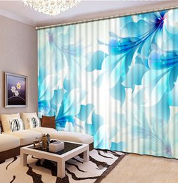 Home Decor Chinese Curtains Photo Beautiful Nature Landscape Modern Curtains  For Kitchen Window Curtain Living Room Bedroom