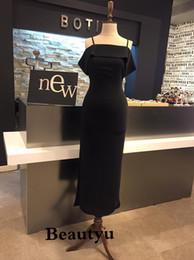 $enCountryForm.capitalKeyWord NZ - Black Evening Dresses 2018 Yousef Aljasmi Cheap Off Shoulder Ankle Length Side Split Mermaid Prom Party Formal Dress Evening Gowns