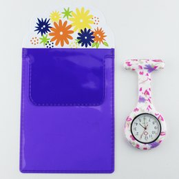 Discount pencil watches - Free Pencil Case FOB Silicone Nurse Watch Doctor Nurse Gift Butterfly Pattern Japanese Movt Brand Hospital Pocket Watch