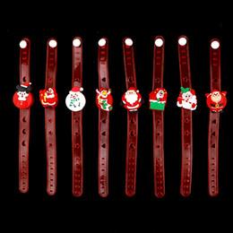 $enCountryForm.capitalKeyWord NZ - Cartoon LED christmas Watch glowing LED Toys Santa Claus flash Wrist bracelet light small gifts children toys XXP78