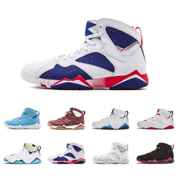 6f89589a777 2018 7 7s men basketball shoes UNC Pantone University blue Tinker Alternate  Olympic Hares Bordeaux Cigar Cardinal 2015 GMP Citrus Sneakers