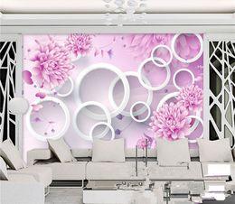 Discount black pink flower wallpaper black pink flower wallpaper discount black pink flower wallpaper embossed pink flower circle wallpaper mural photo wall paper living mightylinksfo