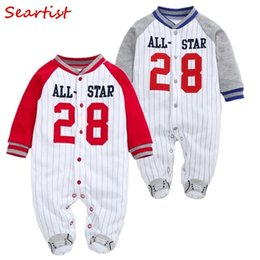 Wholesale Seartist New Baby Boy Clothes Newborn Footies Long Sleeve Pajamas Body Suits Jumpsuit Baby Children Bebes Clothing C