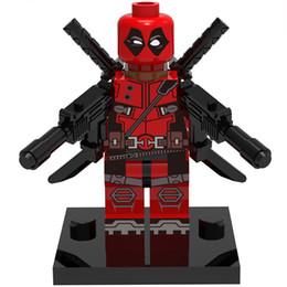 Опт Дэдпул 30 шт. / лот Marvel Super Heroes рисунок строительные блоки наборы модель игрушки Мстители мини цифры игрушки