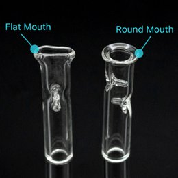 Discount glass straw pipe - Glass oil burner pipe Cheap Glass Pipe Cigarette Filter bat One Hitter Pipe with Clear Glass Straw Tube Filter Tips Bong