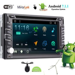 2din gps radio Canada - Android 7.1 Car Stereo Double Din Car DVD Player Autoradio Video FM AM Radio Bluetooth in Dash 2Din GPS Navigation Wifi Mirrorlink