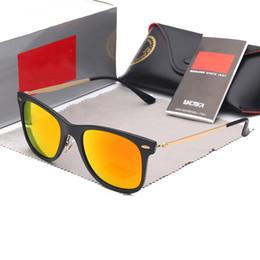 Wayfarer Black White Australia - Ray sunglasses 4210 wayfarer new york designer brands bans sunlight square shape sun glasses 100% uv protection eyewear goggles
