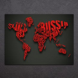 Free world map poster nz buy new free world map poster online hd printed 1 piece world map red contour canvas painting animal canvas prints posters and prints free shipping cu 2699d publicscrutiny Images