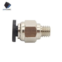 pneumatic connectors 2019 - Anycubic 5Pcs 3d printer Pneumatic Fittings PC4-M6 Bore 4.3mm For 4mm PTFE Tube connector Coupler