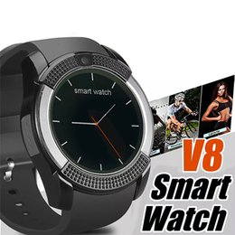 Dial Box NZ - V8 Smart Watch With Sim TF Card Slots Bluetooth smart watches for android and ios phones Intelligent mobile phone watch with retail box