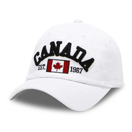 bones black dad hat 2019 - Baseball Cap Men Dad Hat For Women Canada Flag Full Cap Sport Solid Color Bend Visor Brand Male Bone Fitted Baseball Hat