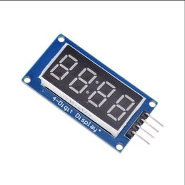 Discount display arduino - 1PCS TM1637 4 Bits Digital LED Display Module For arduino 7 Segment 0.36Inch Clock RED Anode Tube Four Serial Driver Boa