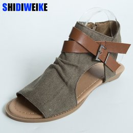 a11793cc40cb Canvas Cover shoes man online shopping - SHIDIWEIKE Womens Summer Sandals  Canvas Peep Toe Shoes Open