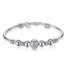 $enCountryForm.capitalKeyWord UK - Natural S Link Chain Silver Bracelets Lantern Dream Catch Beads Bracelet Bangle 9 Round Jewelry Making Beads for Dreaming Women