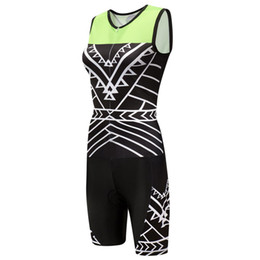 front zipper jumpsuit NZ - 2018 Sport Women's Sleeveless Triathlon Trisuit Cycling Skinsuit with Front Zipper Jumpsuit Breathable Quick-Dry