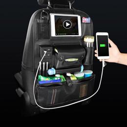 Großhandel Auto Auto Aufbewahrungstasche Sitz Multi Pocket Travel Storage Kleiderbügel Auto USB Ladegerät Sitzbezug Organizer Halter Rücksitz