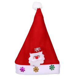 37f622212e8ae Glowing Christmas Light Hat Santa Claus Xmas Cap Decoration Kids Gift Natal