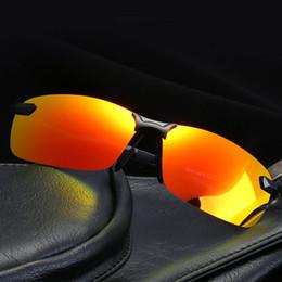 $enCountryForm.capitalKeyWord Australia - Men Polarized Sunglasses Women Classic Driving Outdoor Sports Rimless Metal Polarized bicycle Sunglasses Male Goggle UV400