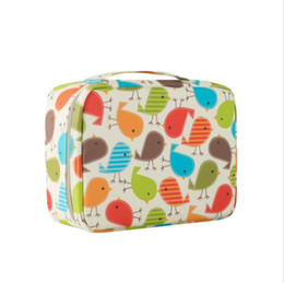 Multi Color Hand Bag UK - Wholesale Color Birds Fashion Design Women Cosmetic Bags Multi Pockets Make Up Travel Toiletry Storage Box Handed Bag Wash Organizer Cases