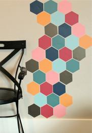 $enCountryForm.capitalKeyWord Australia - wall sticker 12pcs large Hexagon Honeycomb DIY wall sticker for home decor furniture cabinet window bathroom glass