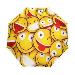 $enCountryForm.capitalKeyWord NZ - 2017 Cute Emoji Folding Umbrella 8 Ribs Rain Umbrella Windproof Automatic and Non-automatic Umbrellas for Children