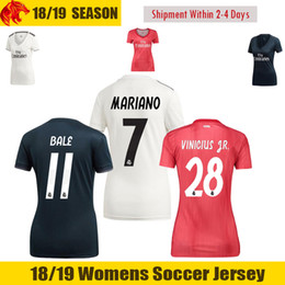 16bbccaed 18 19 Real Madrid Womens Jersey 2018 BENZEMA BALE Womens Soccer jersey  MODRIC Womens Soccer Shirt ASENSIO VINICIUS JR. Ladies Football Shirt