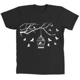 men t shirt bird UK - Fly Bird Man and Woman's Black T-Shirt Tee V6