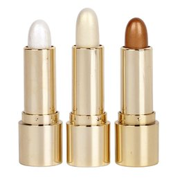 Face Glow Cream Australia - 3 Colors Shimmer Highlighter Stick 3D Stereo Glow Face Brighten Bronzer Contour Stick Long Lasting Waterproof Cosmetics Pigment