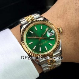 unisex luxury watches NZ - NEW high quality Date 36mm 116200 green dial Japan Miyota 8215 Automatic Sapphire Glass Gold bezel Women's Watch Luxury Unisex Watches